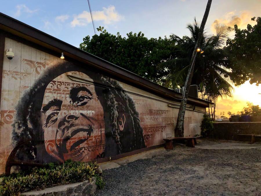 Surf n Sea Haleiwa Bob Marley Mural