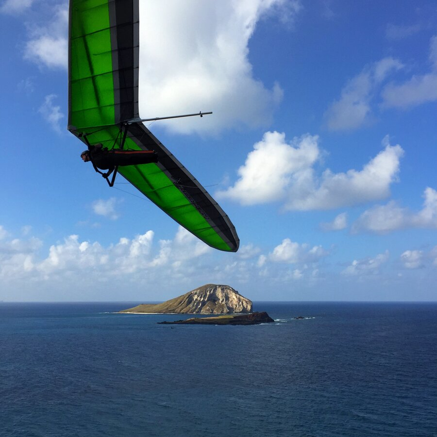 Makapuu Point Lookout Trail Hang Gliders