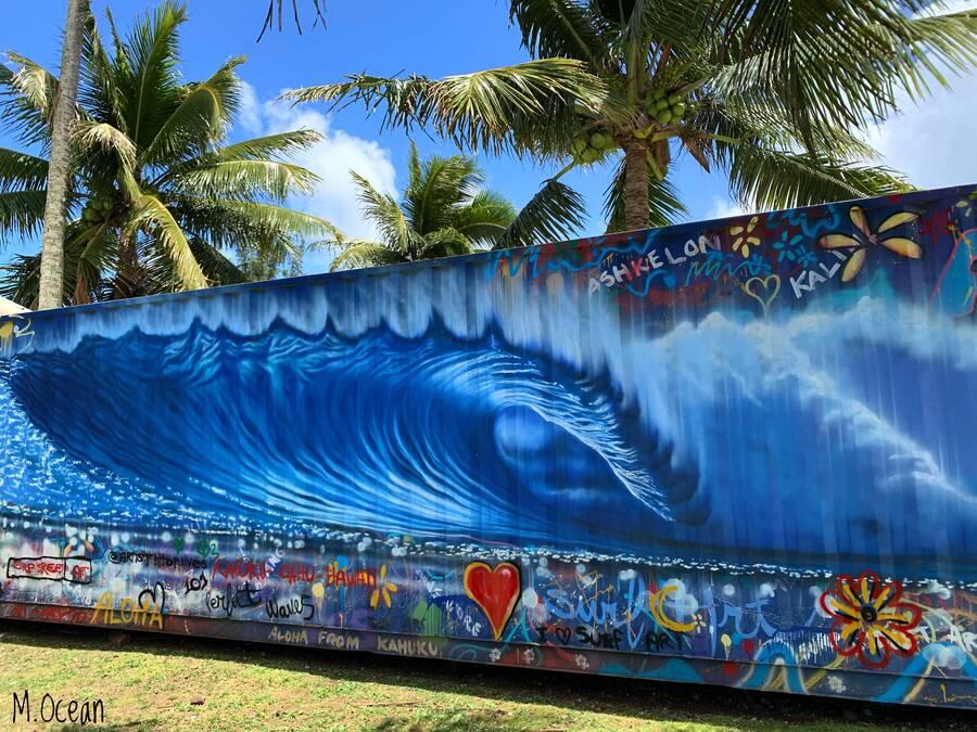 The Art of Hilton Art Box Gallery Wave Mural